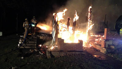 A Stoystown home was destroyed by fire Sunday after high-speed winds accelerated the blaze.