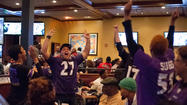 Howard County fans celebrate Ravens win