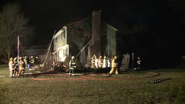 Firefighters responded to a fire on Hawthorne Lane in Orange early Monday morning.