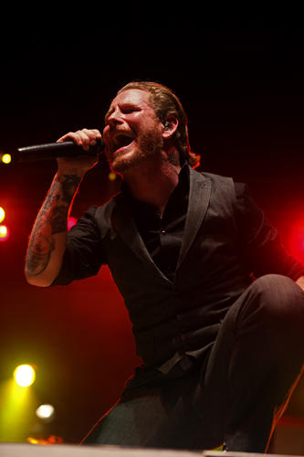Corey Taylor of Stone Sour performs the first show of the band's current United States tour at the Sands Bethlehem Event Center on January 20.
