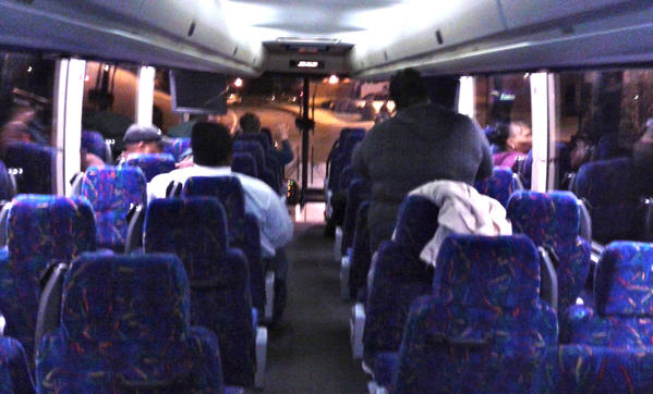 A group of Hagerstown residents boarded a bus Monday morning to attend the presidential inauguration in Washington, D.C.