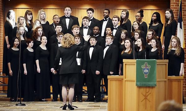 The Choristers from Chambersburg (Pa.) Area Senior High School sing at the 34th memorial service for the Rev. Martin Luther King Jr. held Sunday at St. Paul United Methodist Church in Chambersburg.