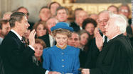 Reagan Sworn In to Second Term - 1985