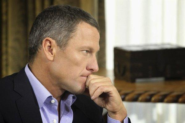 Lance Armstrong during his interview with Oprah Winfrey.