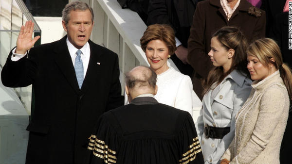 President George W. Bush is sworn in for his second presidential term on January 20, 2005. Watch President Bush's speech here.