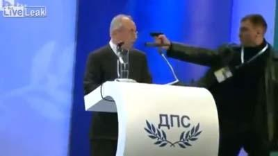 Watch This Bulgarian Politician Fight Off an Assassination Attempt