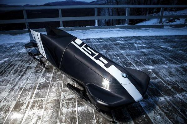 BMW's design studio in Newbury Park developed this bobsled for the U.S. national team.