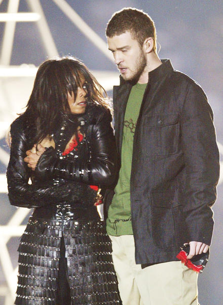 Super Bowl 38 was one of the most memorable half time performances. Featuring Janet Jackson, Justin Timberlake, P. Diddy, Kid Rock, and Nelly, the halftime show was definitely an entertaining performance. Especially when Timberlake ripped off Jacksons chest plate at the end of their performance. Super Bowl XXXVIII will always be remember for Janet Jackson's wardrobe malfunction.