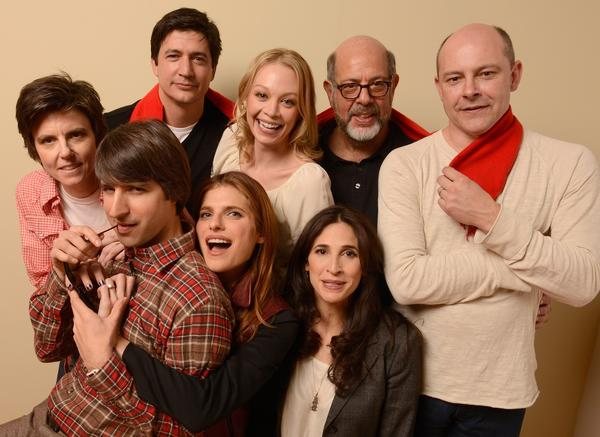 "From the film ""In a World ...,"" actors, clockwise from top left, Tig Notaro, Ken Marino, Alexandra Holden, Fred Melamed, Rob Corddry, Michaela Watkins, Lake Bell (who also directs) and Demetri Martin."