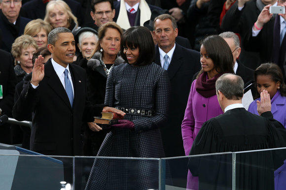 Barack Obama at 2013 inauguration