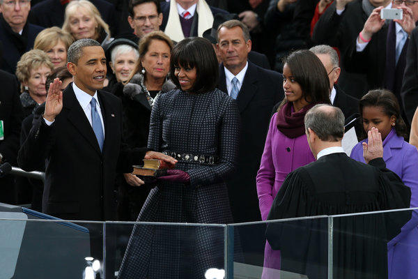 President Obama is sworn in for his second term.