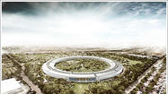 The proposed new Apple campus in Cupertino.