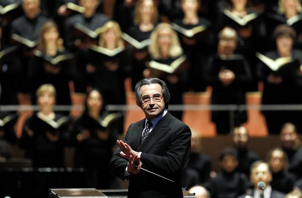 Riccardo Muti and the Chicago Symphony Orchestra perform at Pritzker Pavilion in Millennium Park last year.