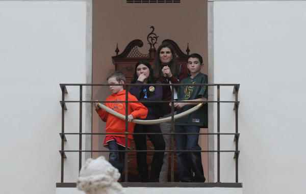 Visitors to The Wadsworth Atheneum Museum of Art in Hartford during Martin Luther King Community Day listen to the Lift Every Voice and and Sing Gospel Choir Monday.