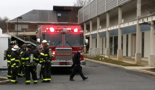 Bethlehem fire department on the scene where a fire was reported at 115 Technology Drive in Bethlehem Monday afternoon.