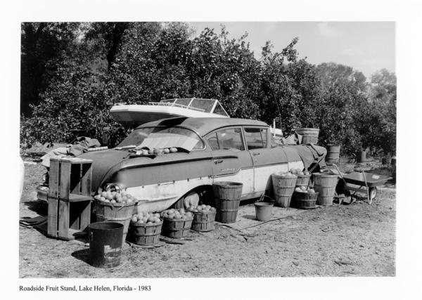 """Roadside Fruit Stand, Lake Helen, Florida - 1983"" by Peter Schreyer"