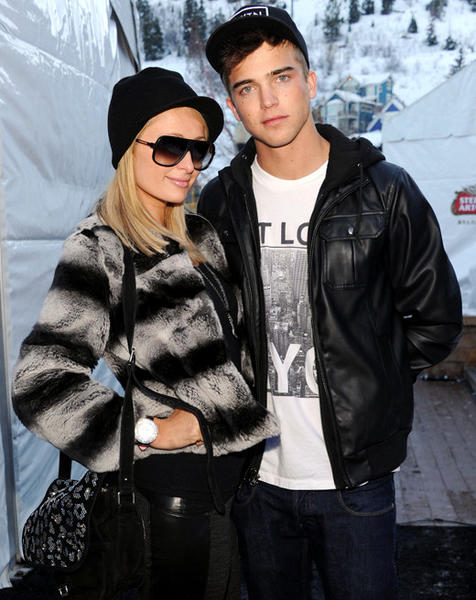 Sundance Film Festival 2013 celebrity sightings: Paris Hilton and model River Viiperi attend Day 3 of Village At The Lift at Sundance 2013.