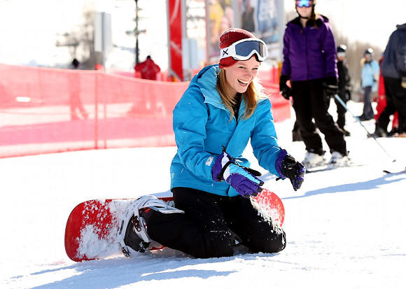 Sundance Film Festival 2013 celebrity sightings: Ashley Hinshaw attends Burton Learn to Ride at Sundance 2013.