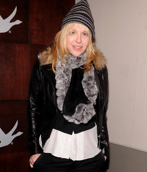 Sundance Film Festival 2013 celebrity sightings: Courtney Love at the Grey Goose Blue Door at Sundance 2013.
