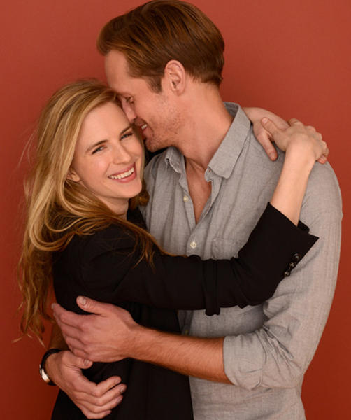 Sundance Film Festival 2013 celebrity sightings: Brit Marling and Alexander Skarsgard pose for a portrait during the 2013 Sundance Film Festival at the Getty Images Portrait Studio at Village at the Lift.
