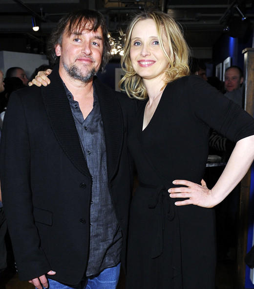 Director Richard Linklater and actress Julie Delpy attend the Before Midnight Premiere Cocktail Party at The Samsung Galaxy Lounge at Village At The Lift.