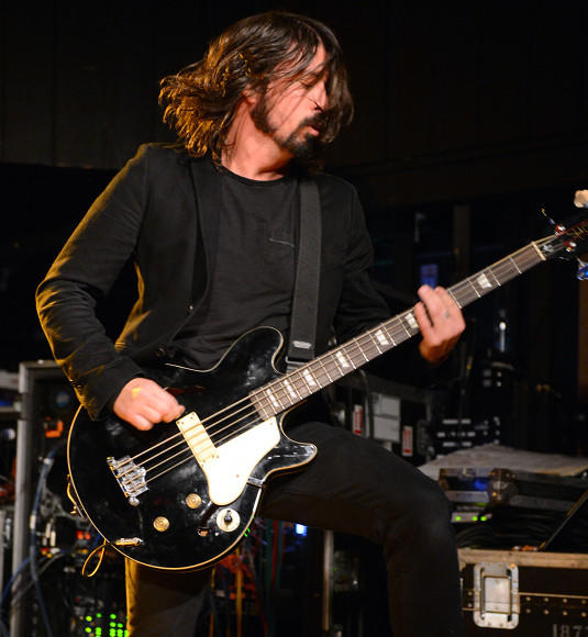 Sundance Film Festival 2013 celebrity sightings: Musician/Director Dave Grohl performs onstage at the Sound City Players debut at Sundance Film Festival at Park City Live! at Sundance 2013.