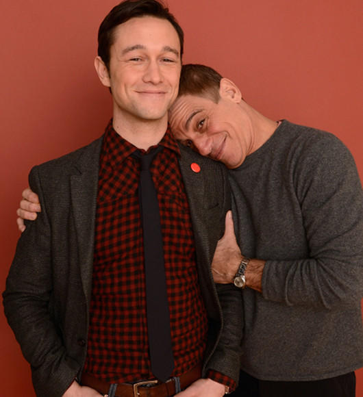 Joseph Gordon-Levitt and Tony Danza pose for a portrait during the 2013 Sundance Film Festival at the Getty Images Portrait Studio at Village at the Lift.