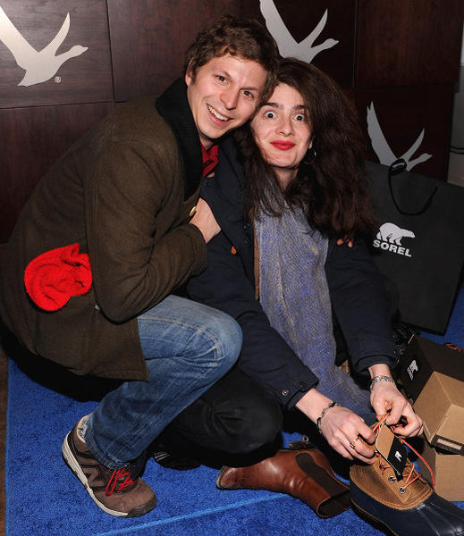 Sundance Film Festival 2013 celebrity sightings: Michael Cera and Gabby Hoffmann at the Grey Goose Blue Door at Sundance 2013.