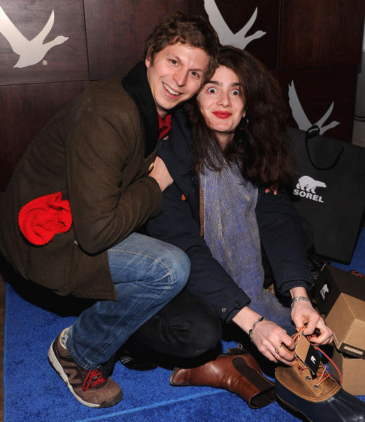 Michael Cera and Gabby Hoffmann at the Grey Goose Blue Door at Sundance 2013.