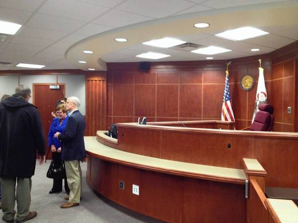 The new family courtroom in Lake County.