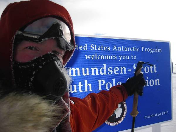 Keith Heger of Morton Grove at the South Pole.