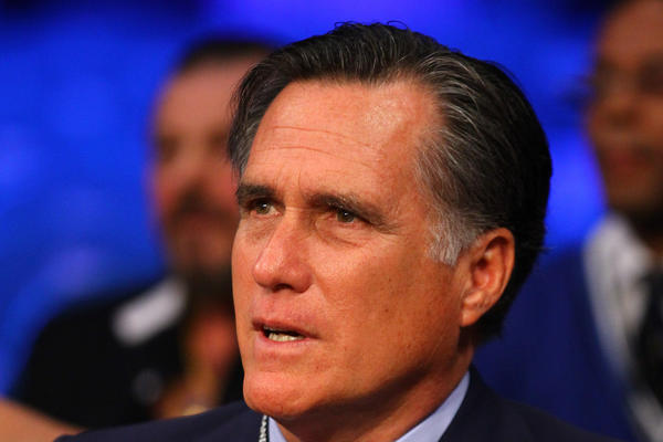 Former Republican presidential candidate Mitt Romney, who spent inauguration day at his home in La Jolla, Calif.