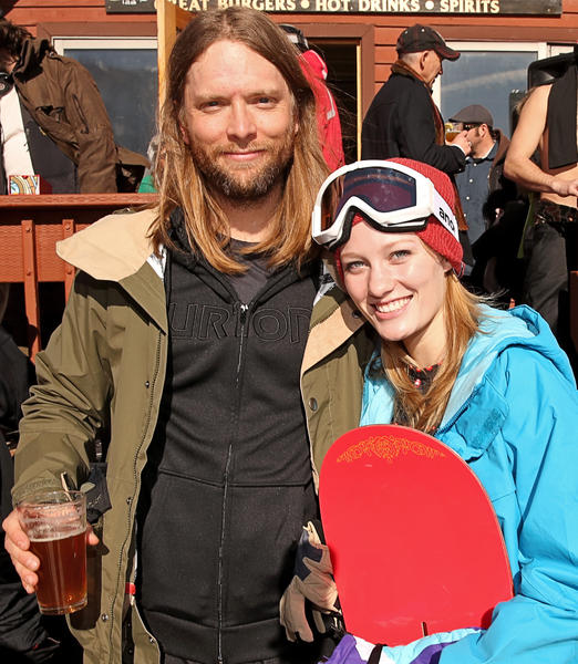 Maroon 5 band member James Valentine and Ashley Hinshaw attend Burton Learn To Ride at Sundance 2013.