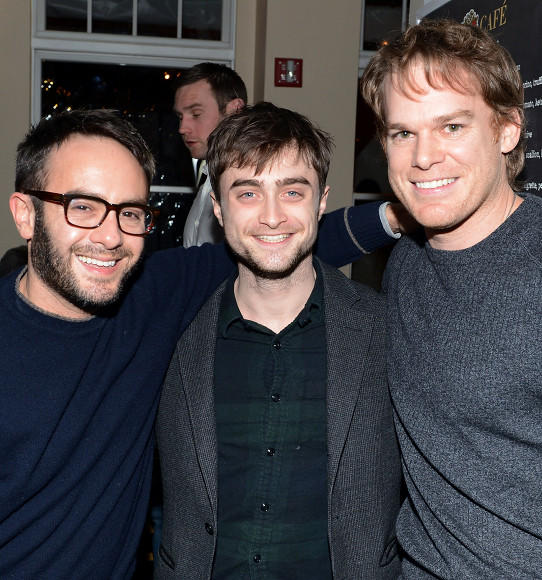 Director John Krokidas, Daniel Radcliffe and Michael C. Hall attend Stella Artois press dinner for the film 'Kill Your Darlings' at Village at the Lift.