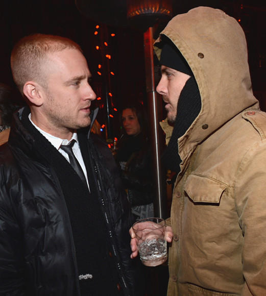 Sundance Film Festival 2013 celebrity sightings: Ben Foster and Casey Affleck attend the NYLON + ASOS Celebrates Aint Them Bodies Saints Dinner at Wahso.