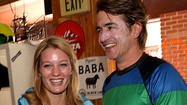 Ashley Hinshaw and Dermot Mulroney