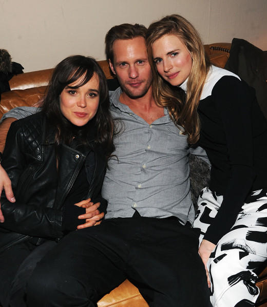"Ellen Page, Alexander Skarsgard and Brit Marling attend Grey Goose Blue Door party for Fox Searchlight Pictures ""Stoker"" and ""The East"" at Sundance 2013."
