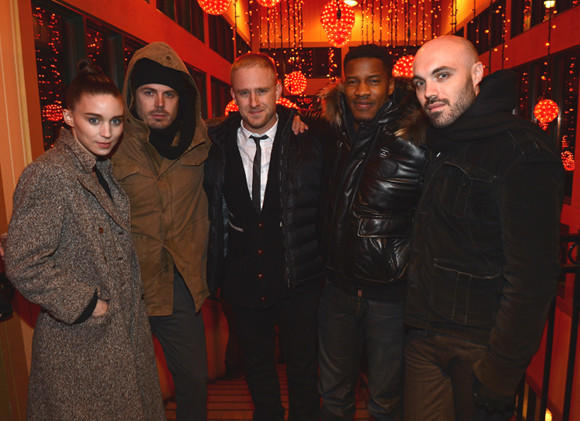 Sundance Film Festival 2013 celebrity sightings: Rooney Mara, Casey Affleck, Ben Foster, Nate Parker and director David Lowery attend the NYLON + ASOS Celebrates Aint Them Bodies Saints Dinner at Wahso.