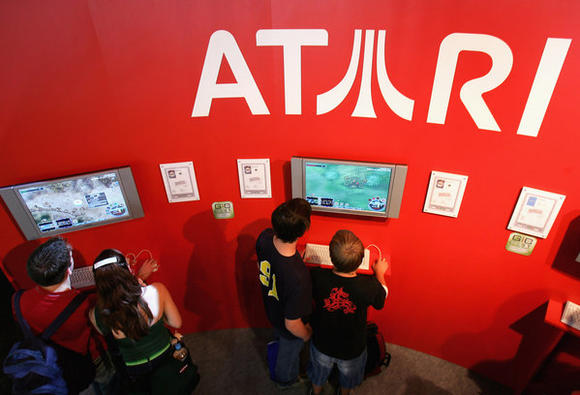 Atari booth at a gaming convention in Germany