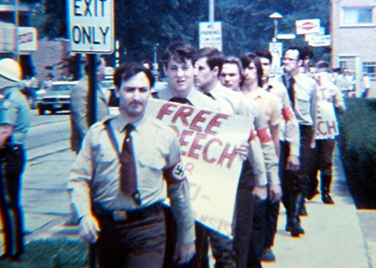 American Neo-Nazis assembled under First Amendment rights. ( Illinois Holocaust Museum and Education Center )