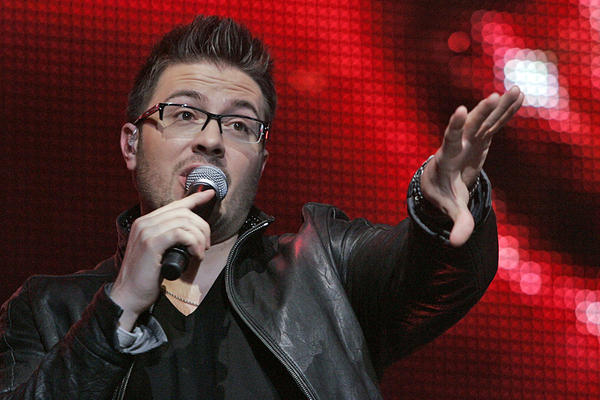 "Danny Gokey, shown at an ""Idols Live"" performance in July 2009, became a father Sunday."