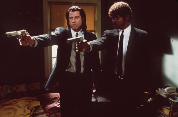 "John Travolta and Samuel L. Jackson in ""Pulp Fiction."""