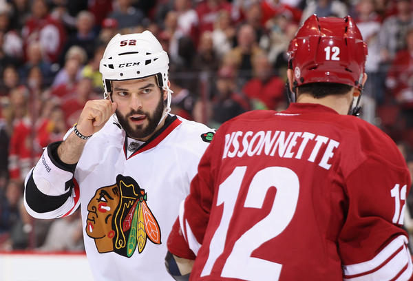 Blackhawks forward Brandon Bollig is turning into a Twitter star.