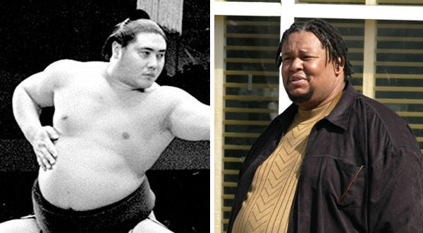 Robert F. Chew, right, Baltimore-based actor on 'The Wire,' dies at 52; Taiho, left, former sumo grand champion, dies at 72.