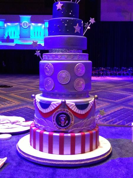 Duff Goldman's Charm City Cakes created the cake for the Commander-in-Chief's inaugural ball.