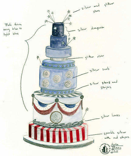 Duff Goldman's Charm City Cakes created the cake for the commander in chief's inaugural ball.