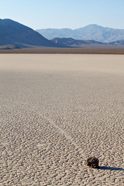 Roaming rocks of the Racetrack Playa in Death Valley National Park - Racetrack Playa, Death Valley