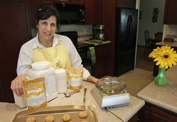 Caron Ory has developed a sugar alternative called Eco-BeeCo and she will teach a class at Orange Coast College about how to develop and sell cottage-industry food products.