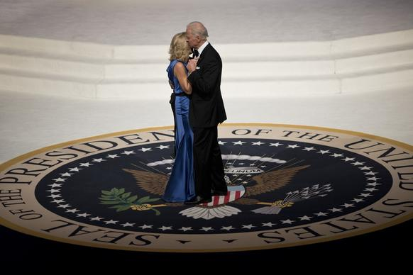 Vice President Joe Biden and his wife, Jill, dance at the Commander in Chief's Ball at the Washington Convention Center.