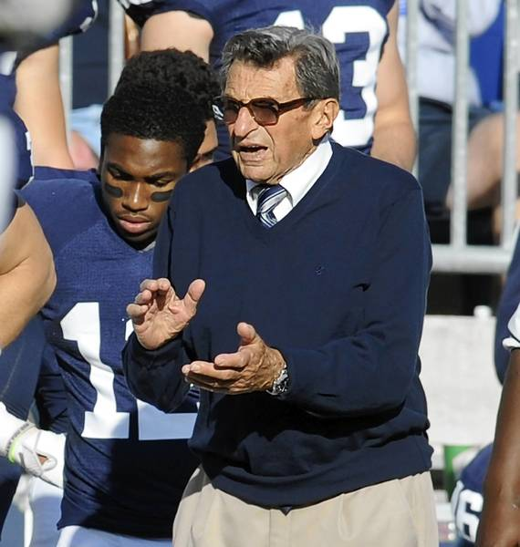Former Penn State football coach Joe Paterno died on Jan. 22, 2012.